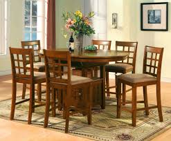 Oval Dining Table Set For 6 Chair Bar Height Kitchen Table Sets In Dining Set Bar Height