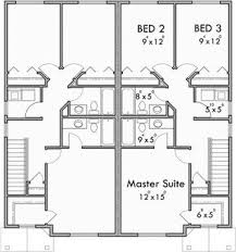 duplex plans with garage in middle upper floor plan for d 599 duplex house plans 2 story duplex plans