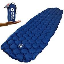 ecotek outdoors hybern8 ultralight inflatable sleeping pad for