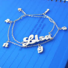 Personalized Name Bracelet 50 Best Name Bracelets Sterling Silver And Gold Images On