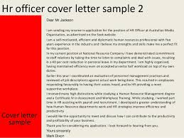 Samples Of Resume Cover Letters by Hr Officer Cover Letter