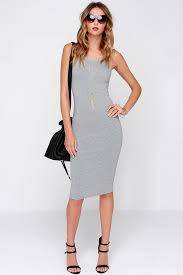 grey bodycon dress grey dress midi dress bodycon dress cocktail dress 44 00