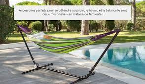 hamac si e hamac balancelle hesperide pour jardin et terrasse pas cher