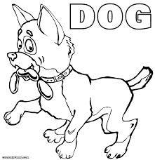 cute dog coloring pages coloring pages to download and print