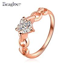 aliexpress buy beagloer new arrival ring gold aliexpress buy simple design fashionable ring 18k gold