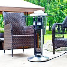 Indoor Patio Heater by Ener G Hea 14756led Indoor Outdoor Bistro Table Infrared Heater
