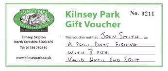 gift vouchers kilnsey fly fishery and trout farm
