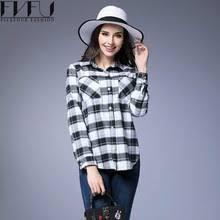 Black And White Plaid Shirt Womens Oversized Plaid Shirts Women Online Shopping The World Largest