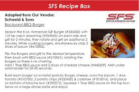 sfs recipe box schiff u0027s food service