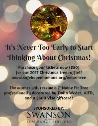 2017 christmas tree raffle u2013 safehaven humane society