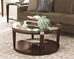 round glass coffee table decor shocking inspiring brown minimalist wood small round coffee with