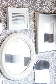 bathroom wall stencil ideas master bathroom makeover rockin roses damask stencil