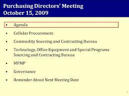 agenda bureau purchasing directors meeting october 15 agenda cellular