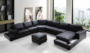 Black Sectional Sofa With Chaise Vg Rz Modern Black Sectional Sofa Sectionals