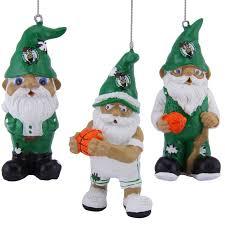 boston celtics resin gnome 3 pack ornament set boston ornaments