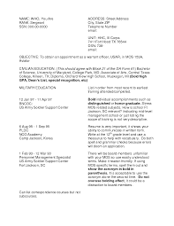 Example Of Security Guard Resume by Civilian Security Officer Cover Letter