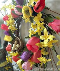Tulip Wreath Spring Home Decor Tulip Wreath Diy An Extraordinary Day