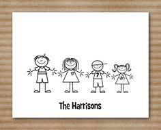 personalized family stationery set custom family stationary