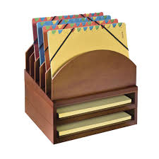 Modular Desk Organizer Style Modular Wood Desk Organizer With Upright Folder Stand