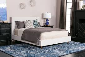 Living Spaces Bedroom Furniture by Dean Sand Queen Upholstered Panel Bed Living Spaces