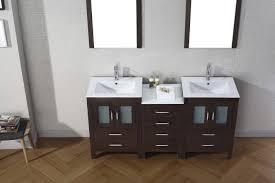 Oak Bathroom Cabinets Virtu Usa Dior 66 Double Bathroom Vanity Set In Espresso