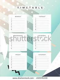 time design planner planner calendar schedule week abstract design stock vector