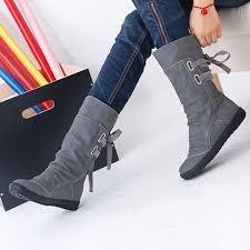 womens casual boots canada aliexpress com buy 2017women winter boots mid calf solid