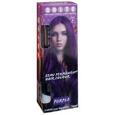 buy organix semi permanent hair colour purple 75 ml by brite