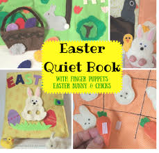 easter bunny book easter book craft learn and play