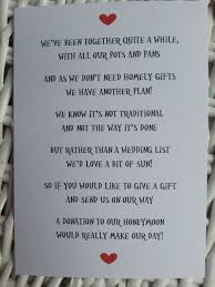 combined wedding registry wedding poem money as a gift since we already combined our