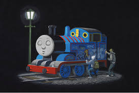 thomas tank engine banksy