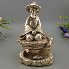 siege pecheur chine folk argent sculpture siège pêcheur fisher pêcheurs jiang