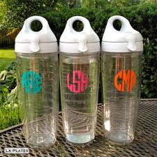 monogrammed tervis tumbler water bottle set of 2