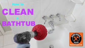 How To Remove Soap Scum From Bathtub How To Clean A Bathtub Fast Home Repair Tutor