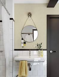 tapisserie salle a manger papier peint salle de bain harmonie avec carrelage a clipser