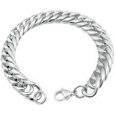 online bracelet images Buy men style link chain bracelet silver stainless steel round jpg