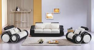 Contemporary Black Leather Sofa Contemporary Black And White Leather Sofa Set Mississippi 2 949 00