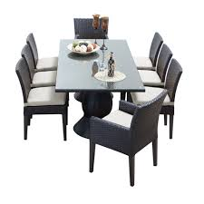9 Pc Dining Room Set by Tk Classics Napa 9 Piece Wicker Dining Set With Cushions Modern