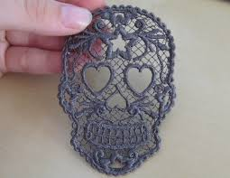 fsl free standing lace day of the dead skull calavera