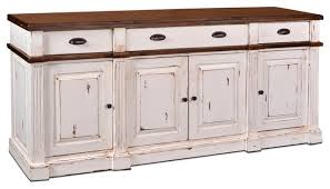 landon distressed white sideboard storage cabinet traditional