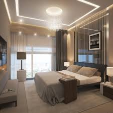 futuristic bedroom design with white double table lamp and amazing