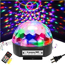 sound activated dj lights amazon com solmore 9 color led disco ball party lights strobe light