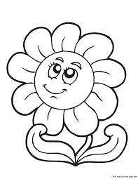 flowers print color coloring