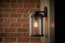 Kichler Outdoor Lighting Barrington 13 1 Light Outdoor Wall Light In Distressed Black Wood