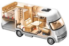 motor home interior motorhome airtronic heating installation garden offices