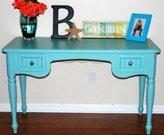 teal blue desk restoration redoux painted furniture