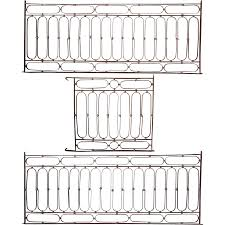french wrought iron four piece balcony railing set from