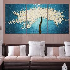 canvas painting for home decoration 40 x 60cm 3 pannels frameless beautiful money tree painting wall