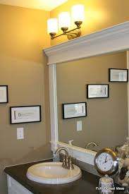 How To Make A Bathroom Mirror Frame Inexpensive And Easy Way To Upgrade Your Plain Bathroom Mirror