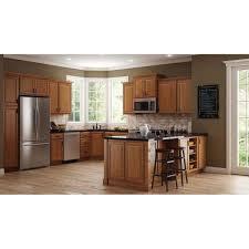 farmhouse kitchen with oak cabinets hton bay hton assembled 36x34 5x24 in farmhouse apron